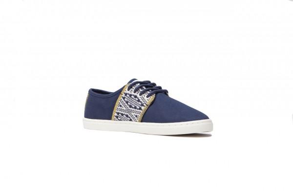 N'go Shoes Mekong Collection Da Nang - Artisan.Blue Navy Canvas Vegan